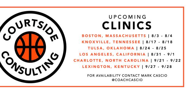 Upcoming Clinics! | coachcascio com
